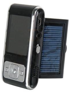 Lettore MP3 a energia solare: Sorbo SB-5007, con pannello solare capace di ricaricare la batteria