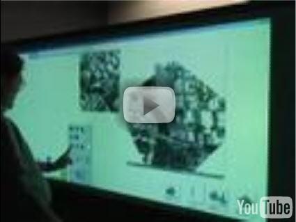 Touchwall, il nuovo Surface touch screen presentato da Microsoft a luci infrarosse e hardware composto da laser