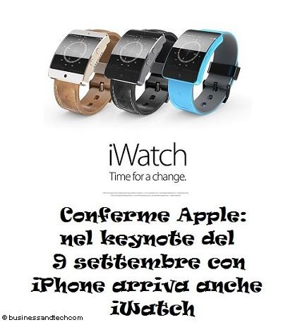 iWatch Apple con iPhone 6 protagonisti del prossimo event oil 9 settembre: anticipazioni