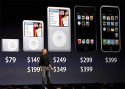 Apple: Steve Jobs presenta le ultime novit?á. iPod Classic da 120 GB, Nano 4G e iPod Touch. Caratteristiche tecniche.