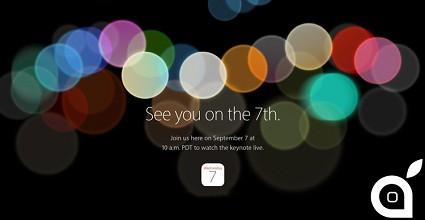 Apple: nuovo evento il 7 settembre. In arrivo l'iPhone 7