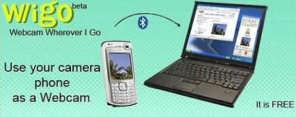 Cellulare che diventa webcam wireless e trasmette al PC via Bluetooth. Grazie ad un semplice software.