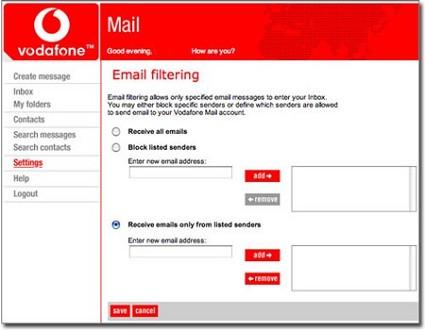 Leggere email sul cellulare: Vodafone Mail nuovo servizio che gestisce fino a sei indirizzi di posta elettronica. Numerose funzioni interessanti.