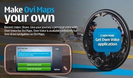 Own Voice for Ovi Maps: la nuova applicazione di Nokia che permette di personalizzare con  la propria voce le istruzioni sul proprio navigatore.
